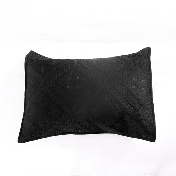 Fern Crystal Luxury Black Pillow Sham - Calla Angel  - 2