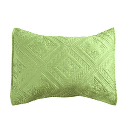 Fern Crystal Luxury Lime Pillow Sham - Calla Angel  - 2