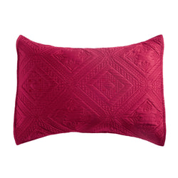 Fern Crystal Luxury Cherry Red Pillow Sham - Calla Angel  - 2