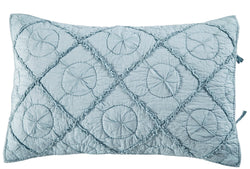 Country Idyl Luxury Pacific Blue Pillow Sham - Calla Angel  - 2