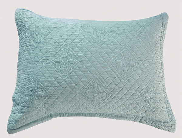 Saint Fountain Luxury Light Aqua Pillow Sham - Calla Angel  - 2