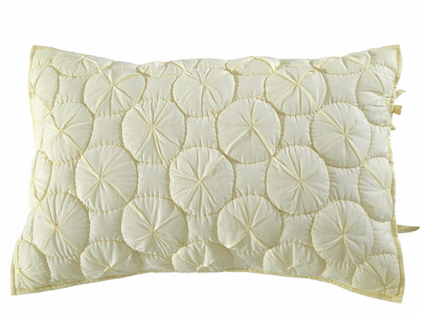 Dream Waltz Luxury Ivory Pillow Sham - Calla Angel  - 2