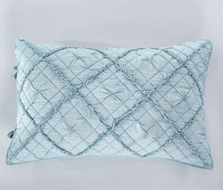 Diamond Applique Luxury Pacific Blue Pillow Sham - Calla Angel  - 2