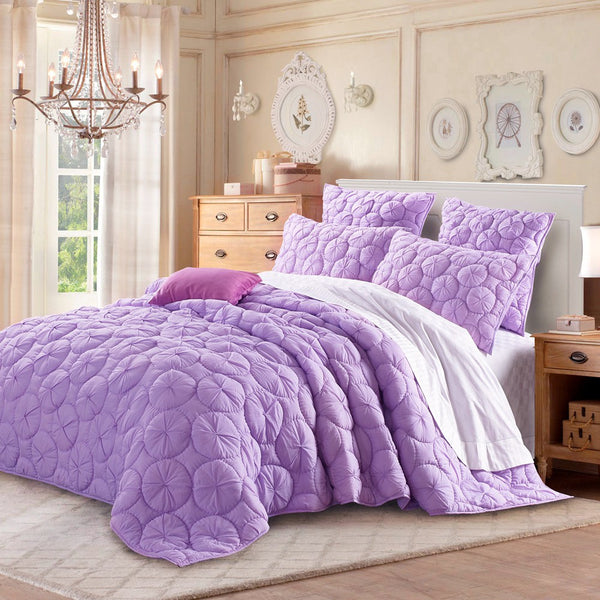 Dream Waltz Luxury Pure Cotton Lavender Quilt - Calla Angel  - 1