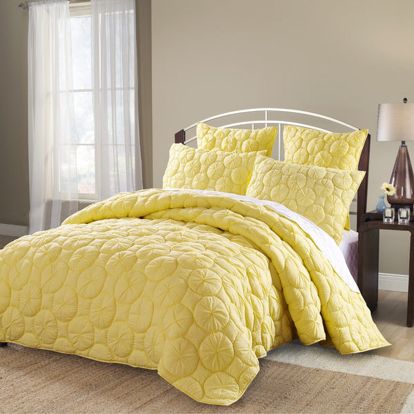Dream Waltz Luxury Pure Cotton Lemon Quilt - Calla Angel  - 1