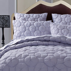 Dream Waltz Luxury Pure Cotton Quilted Silver Sand Pillow Sham - Calla Angel  - 1