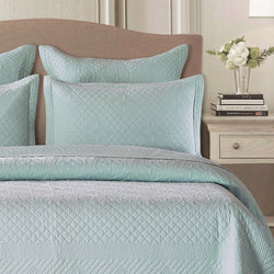 Saint Fountain Luxury Light Aqua Pillow Sham - Calla Angel  - 1