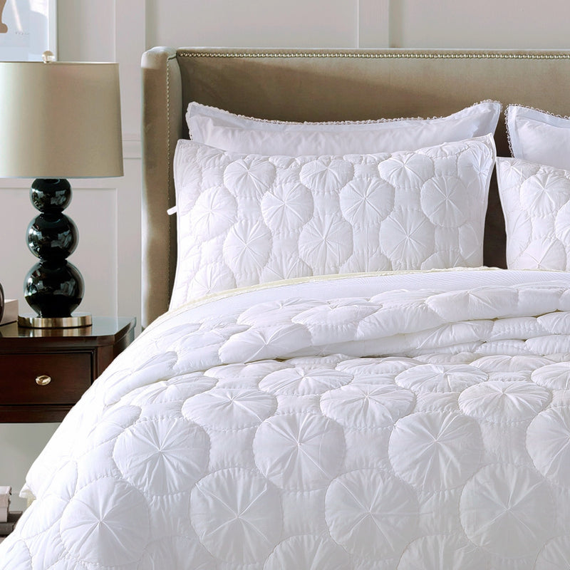 Dream Waltz Luxury White Pillow Sham - Calla Angel  - 1