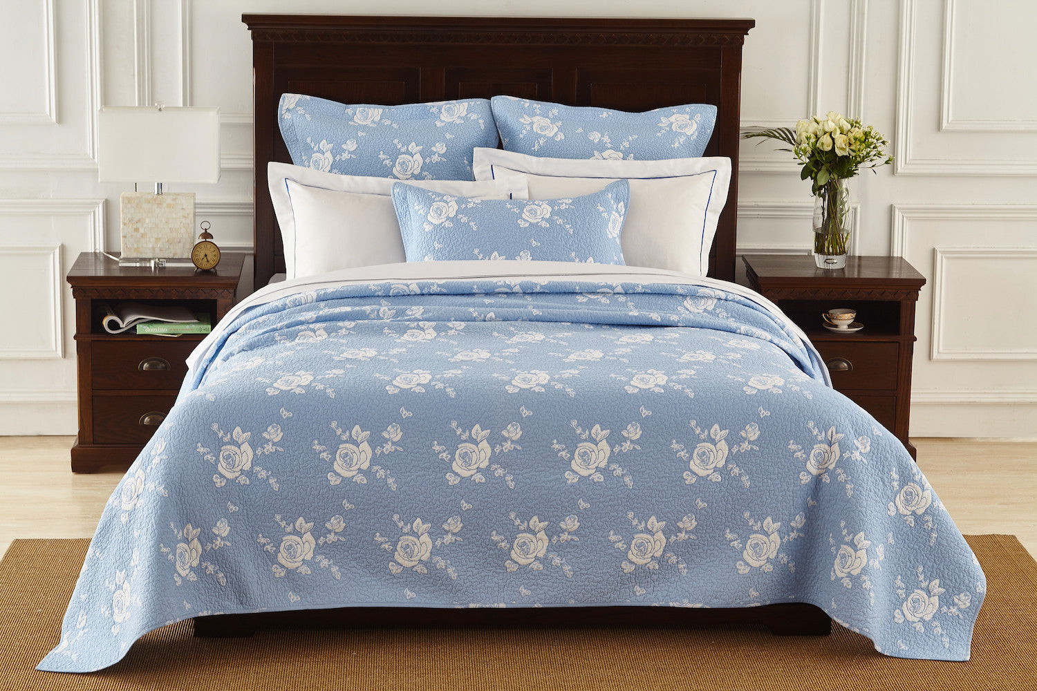 light bedroom grey decor canopy stitch the box bedding sham products diamond inspiration blue quilt crane and