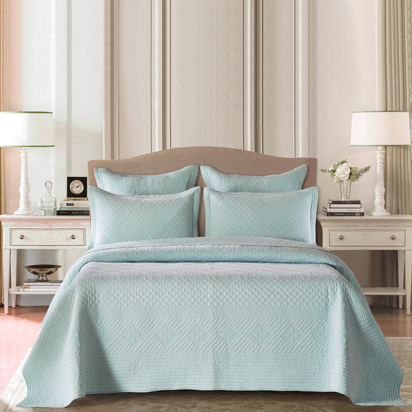 Saint Fountain Luxury Light Aqua Quilt - Calla Angel  - 1