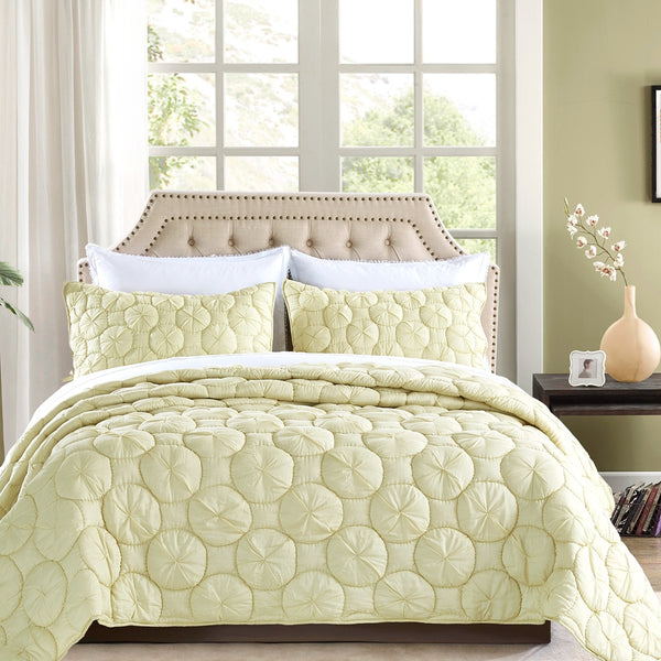 Dream Waltz Luxury Celadon Green Quilt - Calla Angel  - 1