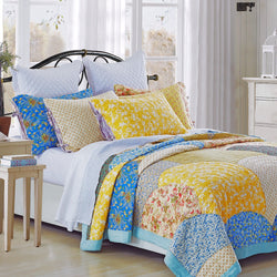 Fairview Patchwork Handmade Pure Cotton Quilt - Calla Angel  - 1