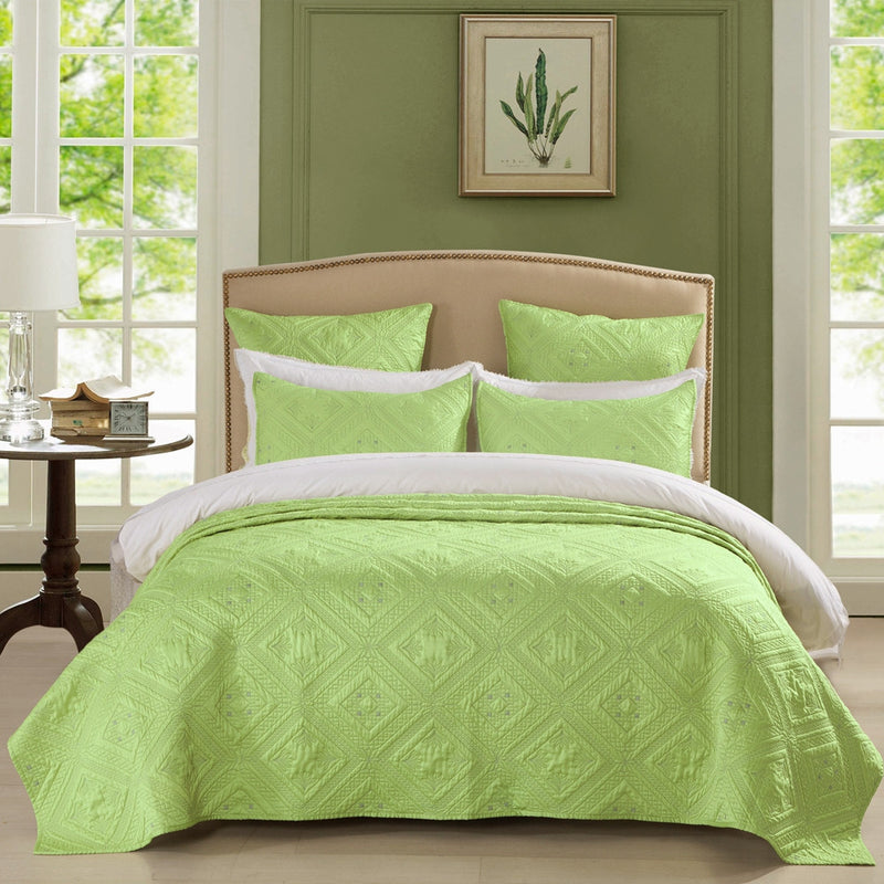 Fern Crystal Luxury Lime Quilt - Calla Angel  - 1