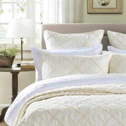 Country Idyl Luxury Ivory Pillow Sham - Calla Angel  - 1