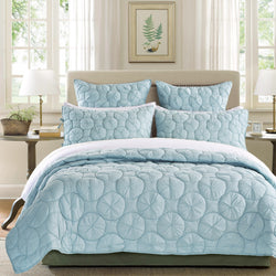 Dream Waltz Luxury Pacific Blue Quilt - Calla Angel  - 1