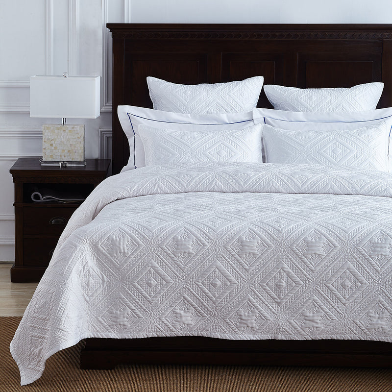 Fern Crystal Luxury White Pillow Sham