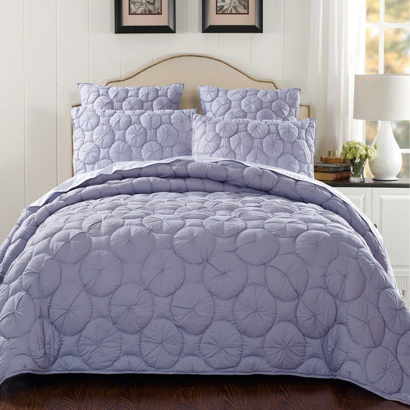 Dream Waltz Luxury Pure Cotton Silver Sand Quilt - Calla Angel  - 1