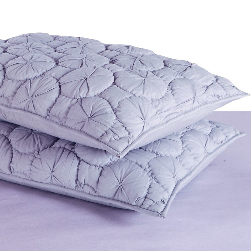 Dream Waltz Luxury Pure Cotton Quilted Silver Sand Pillow Sham - Calla Angel  - 2