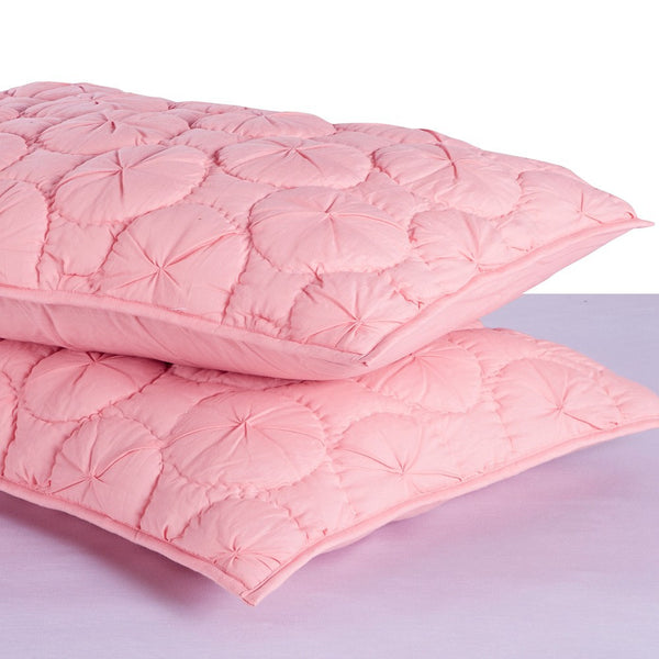 Dream Waltz Luxury Pure Cotton Quilted Cameo Pink Pillow Sham - Calla Angel  - 2