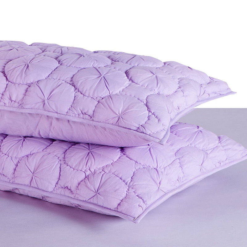 Dream Waltz Luxury Pure Cotton Quilted Lavender Pillow Sham - Calla Angel  - 2