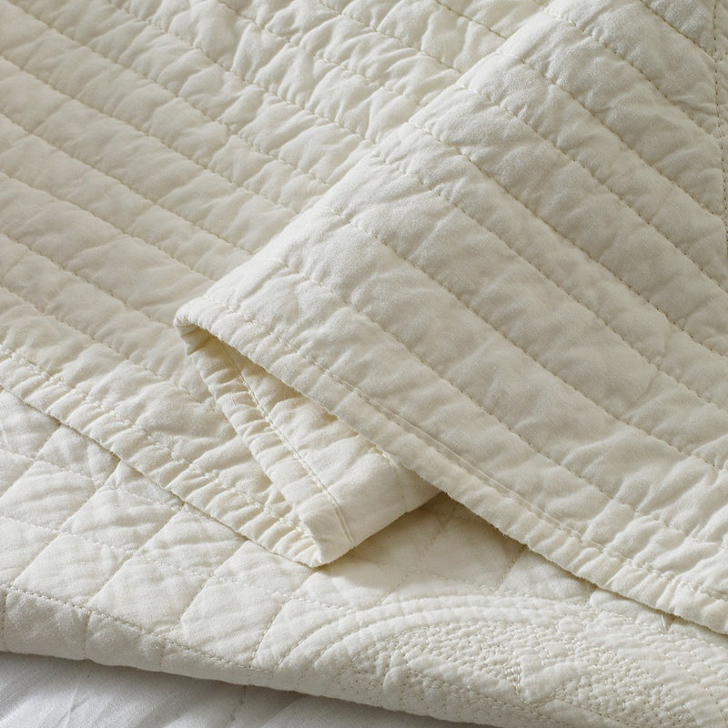 Saint Ivory Luxury Pure Cotton Quilt - Calla Angel  - 2