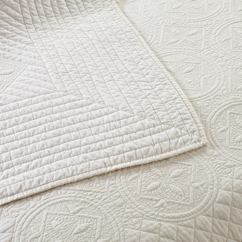 Saint Ivory Luxury Pure Cotton Quilt - Calla Angel  - 6