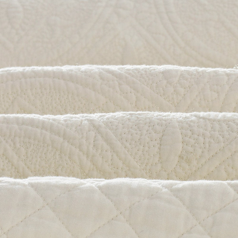 Saint Ivory Luxury Pure Cotton Quilt - Calla Angel  - 7