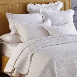Sage Garden Luxury Pure Cotton Quilted White Pillow Sham
