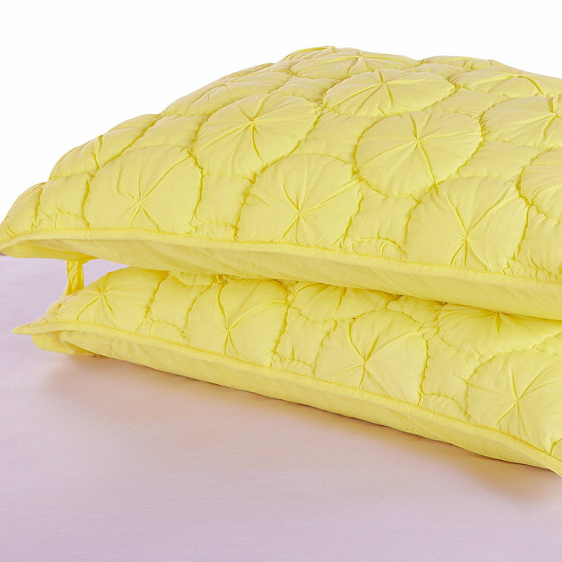 Dream Waltz Luxury Pure Cotton Quilted Lemon Pillow Sham - Calla Angel  - 2
