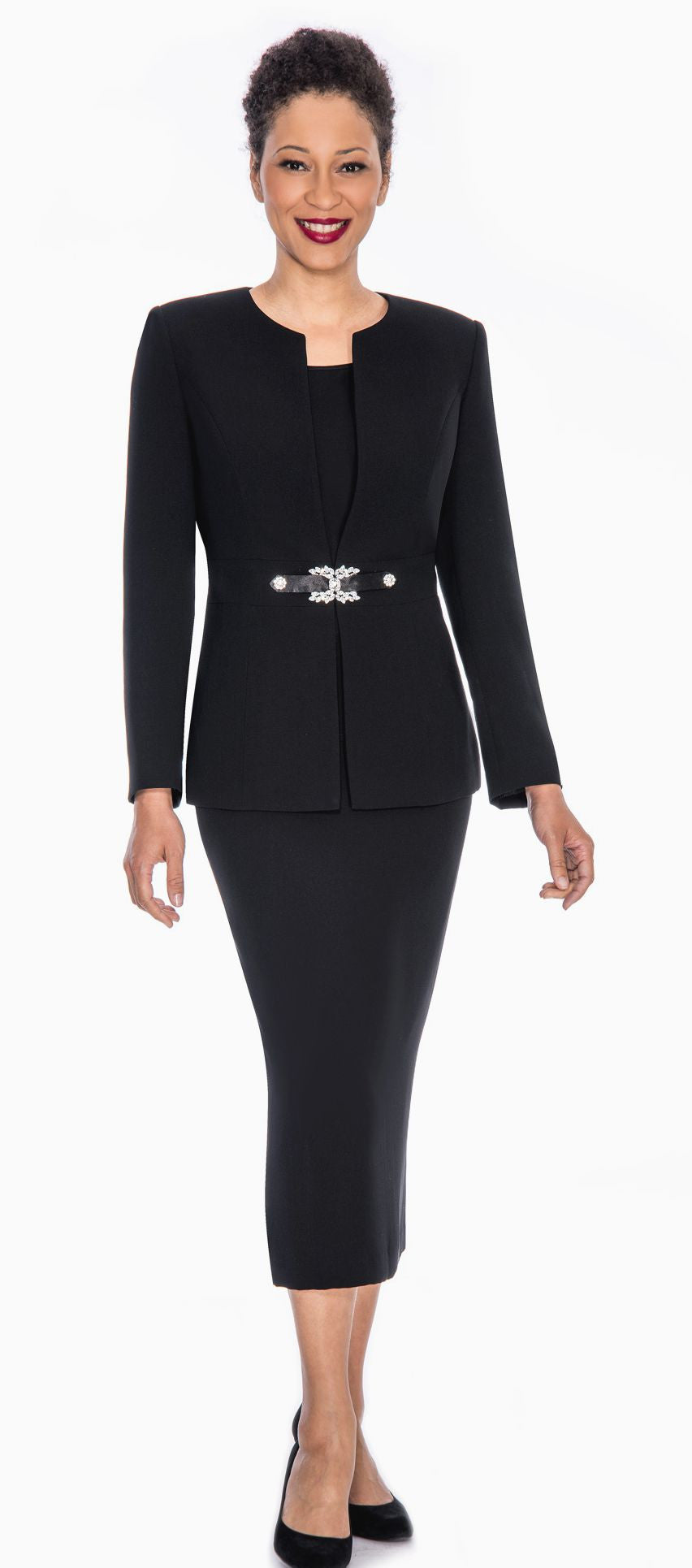 Giovanna Usher Suit 0650-Black - Church Suits For Less