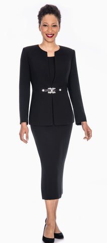 Giovanna Church Suit 0650-Black