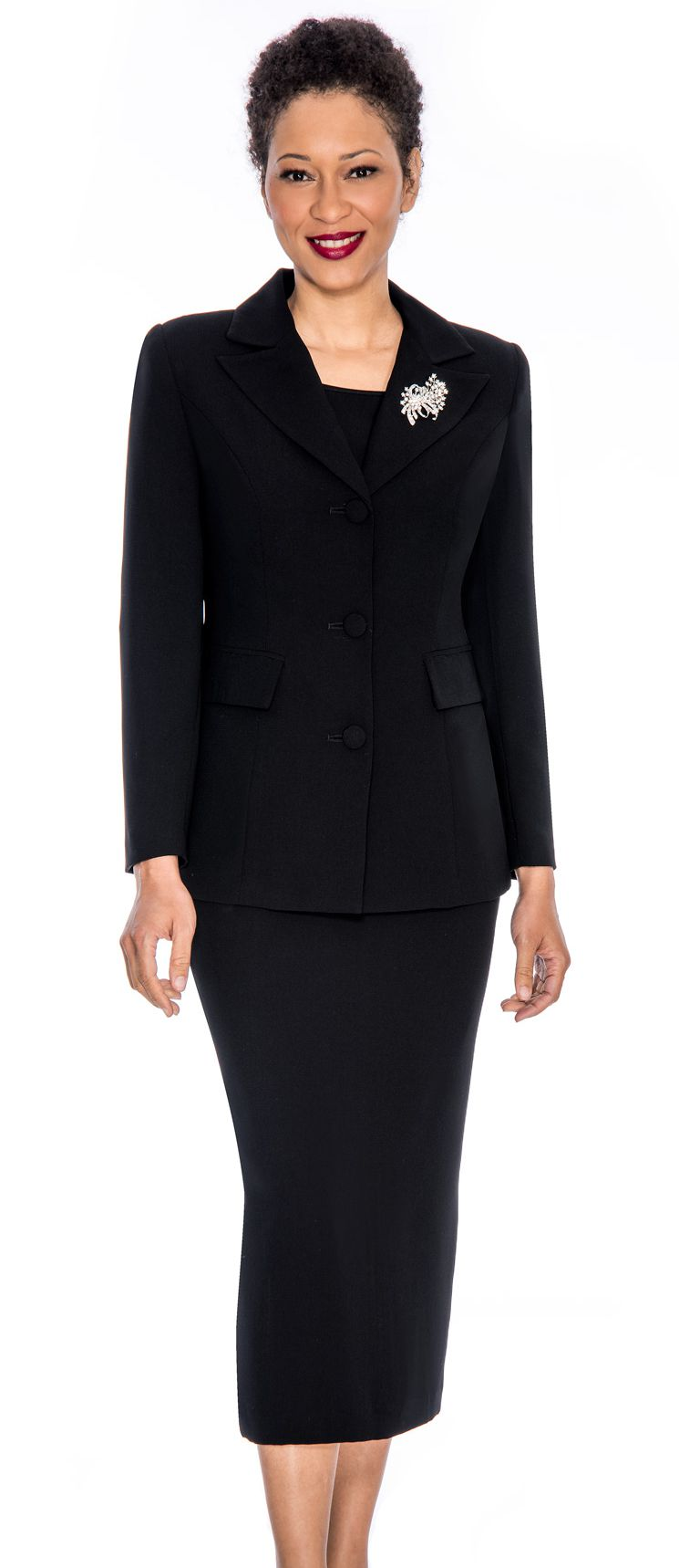 Giovanna Usher Suit 0655-Black - Church Suits For Less
