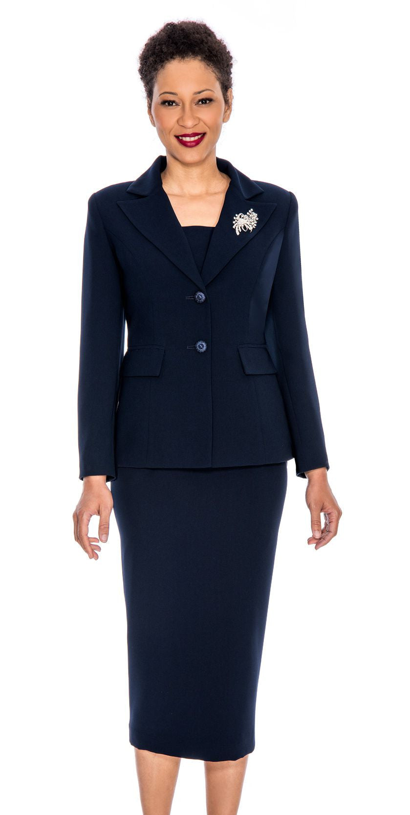 Giovanna Church Suit 0710-Navy - Church Suits For Less