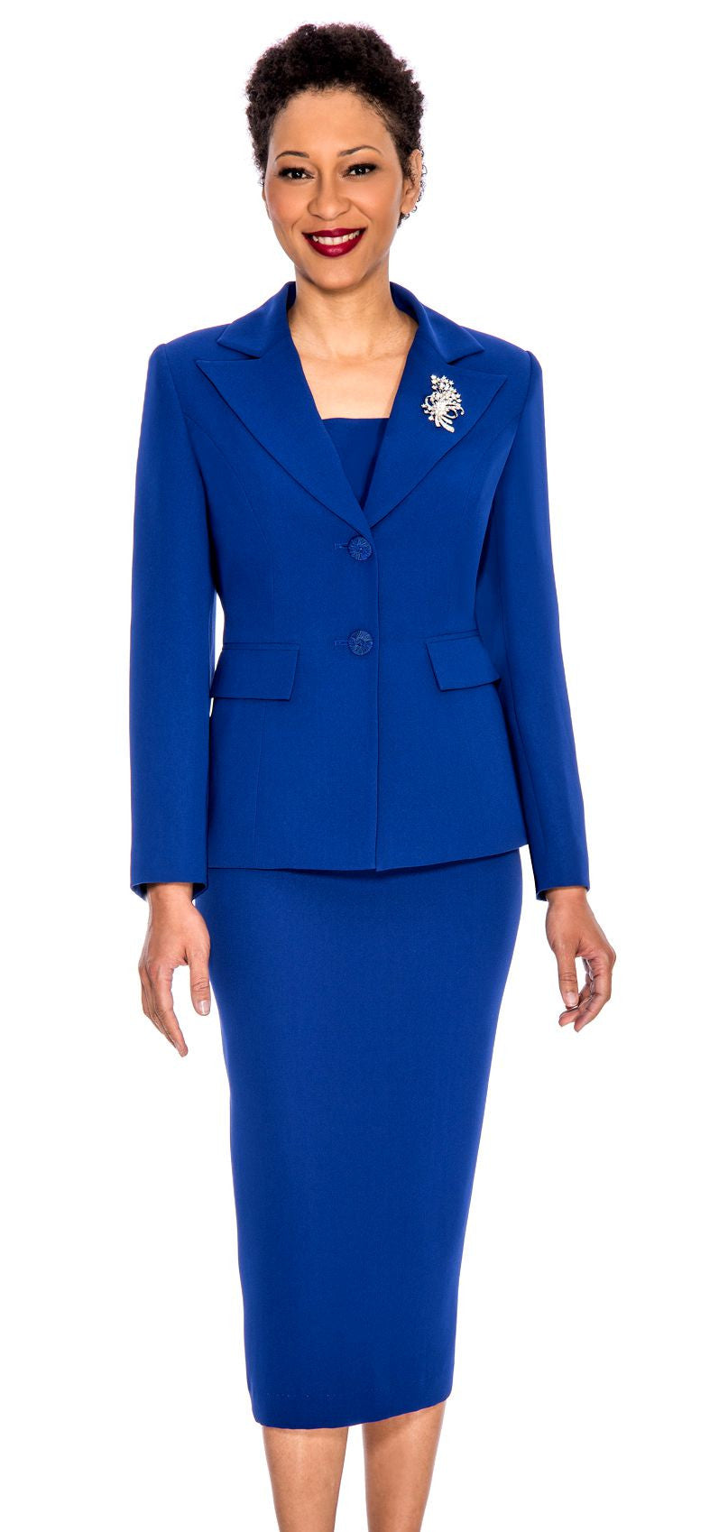 Giovanna Usher Suit 0710-Royal Blue - Church Suits For Less