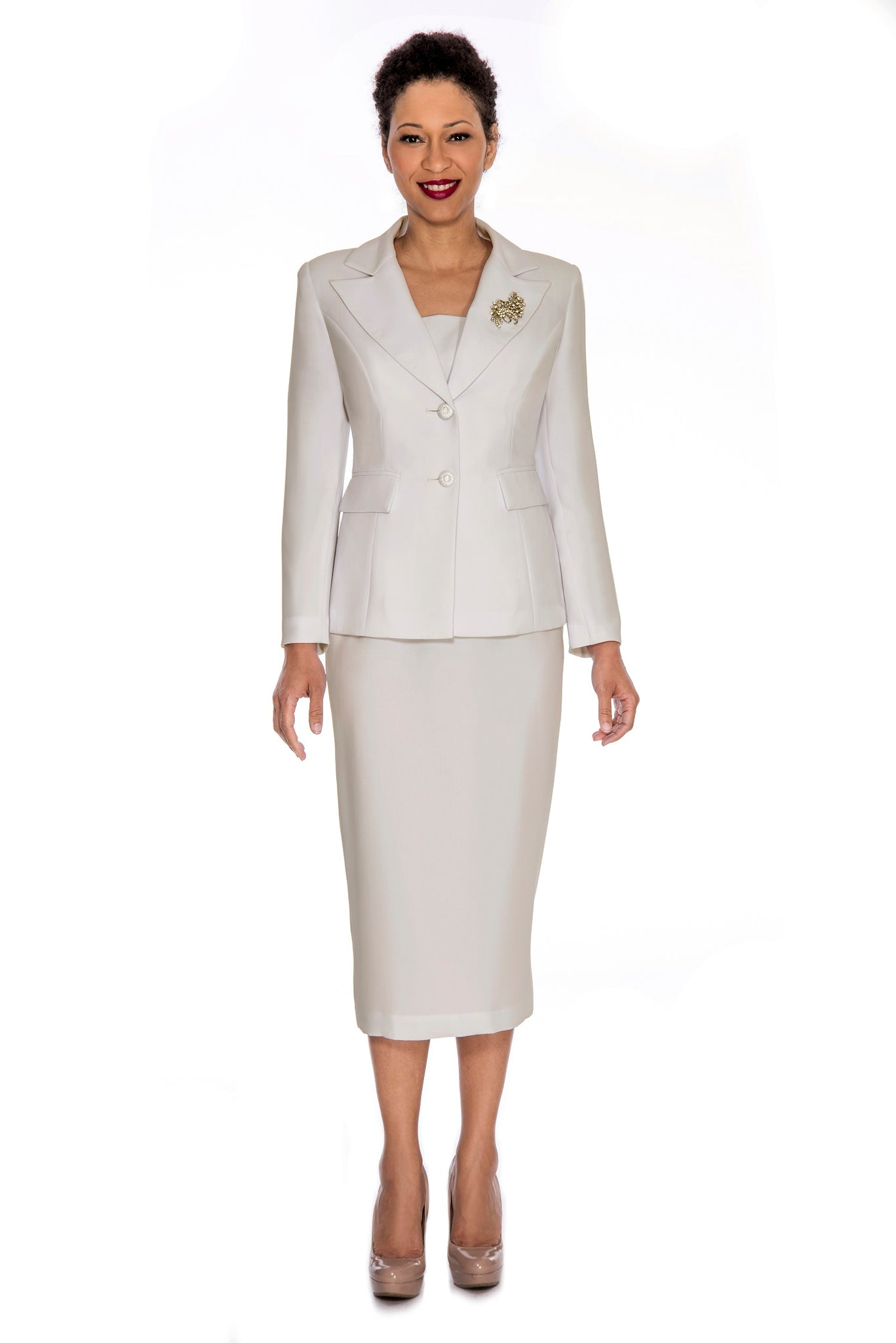 Giovanna Church Suit 0710-Ivory - Church Suits For Less