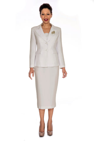 Giovanna Usher Suit 0710C-Ivory - Church Suits For Less