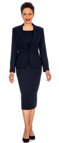 Giovanna Church Suit 0823-Navy - Church Suits For Less