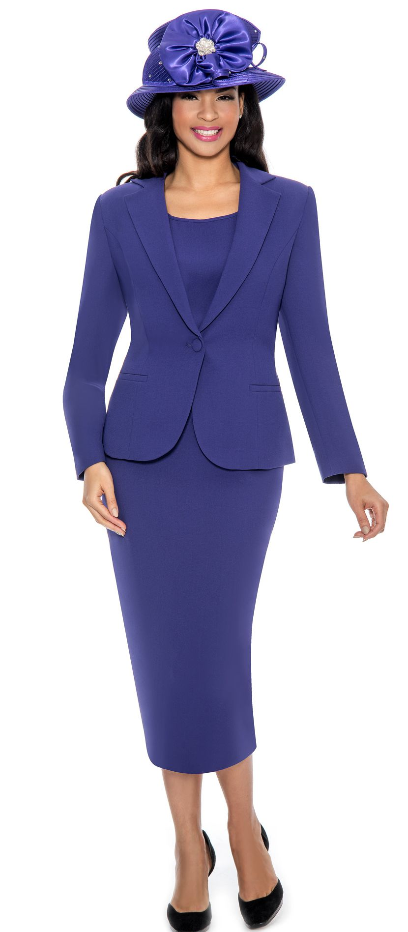 Giovanna Church Suit 0823-Purple - Church Suits For Less