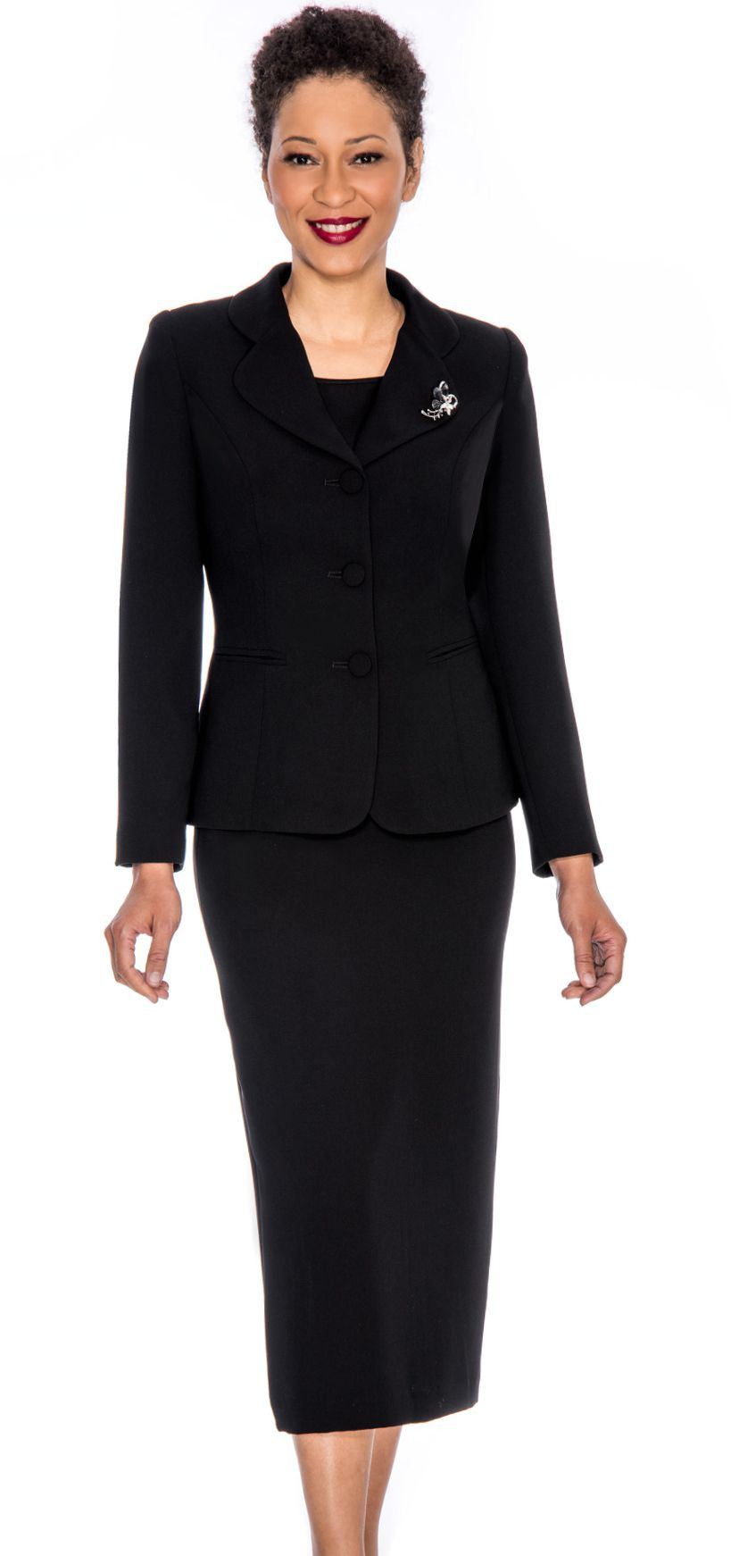 Giovanna Usher Suit 0824- Black - Church Suits For Less
