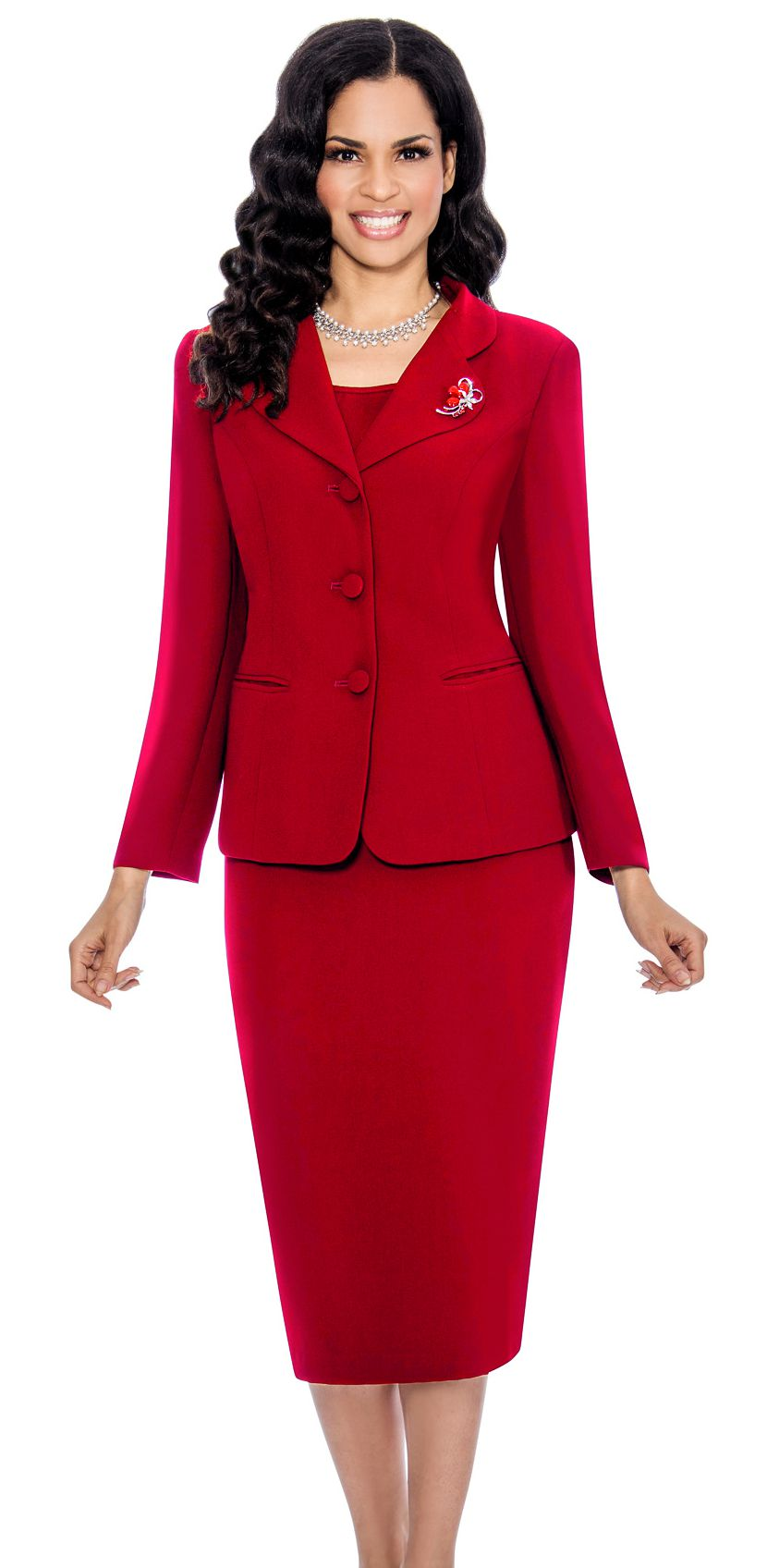 Giovanna Usher Suit 0824- Cranberry - Church Suits For Less