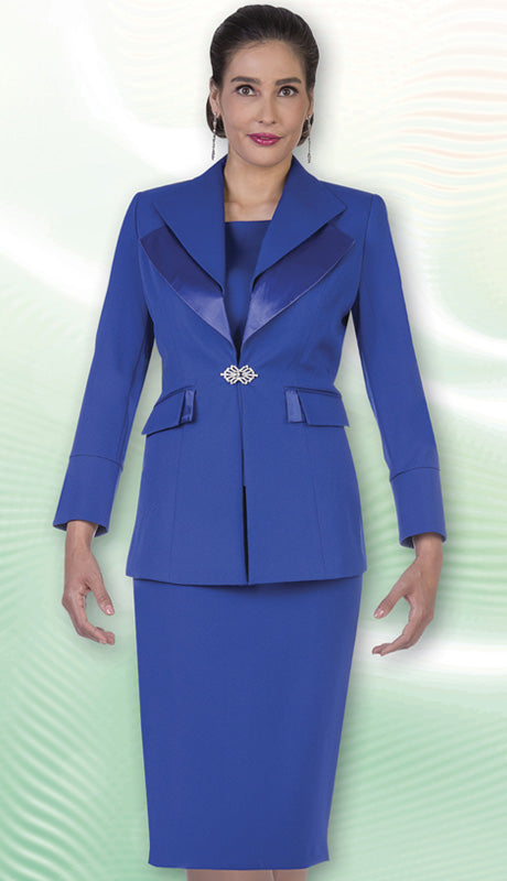 Aussie Austine Usher Suit 12427-Royal - Church Suits For Less