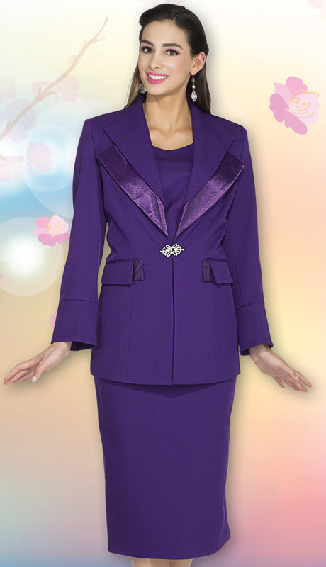 Aussie Austine Usher Suit 12427-Purple - Church Suits For Less