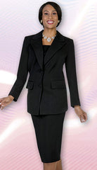 Aussie Austine Usher Suit 12442-Black - Church Suits For Less