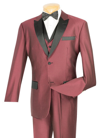 Vinci Men Suit 23TX-1-Wine - Church Suits For Less