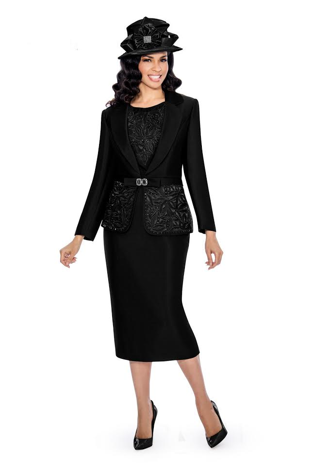 Giovanna Suit G1007-Black - Church Suits For Less