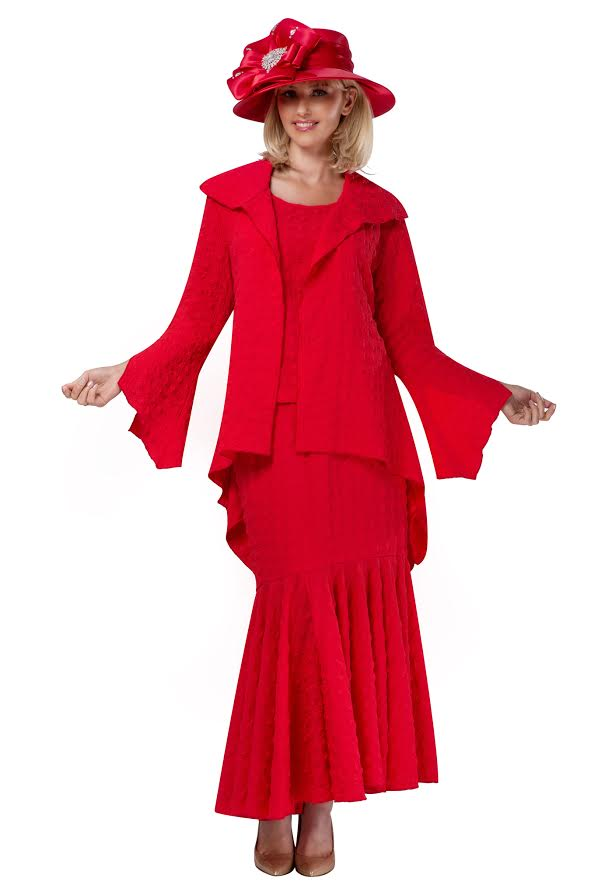 Giovanna Suit 0940-Red - Church Suits For Less