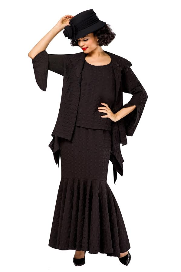 Giovanna Suit 0940-Black - Church Suits For Less