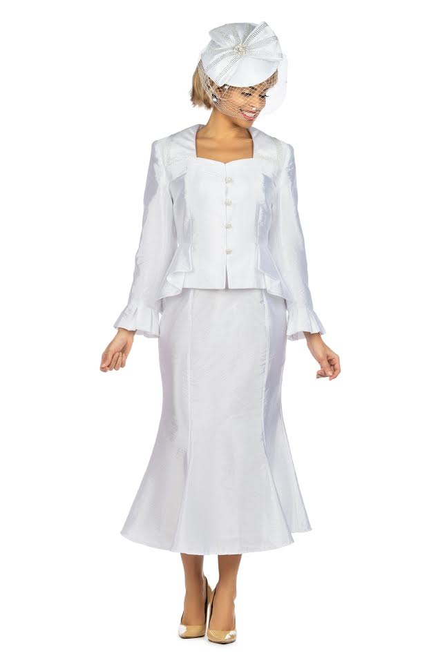 Giovanna Suit G1122-White - Church Suits For Less