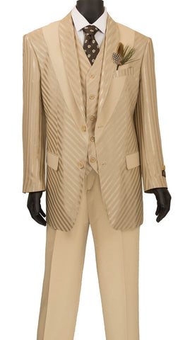 Vinci Men Suit 23RS-9-Almond