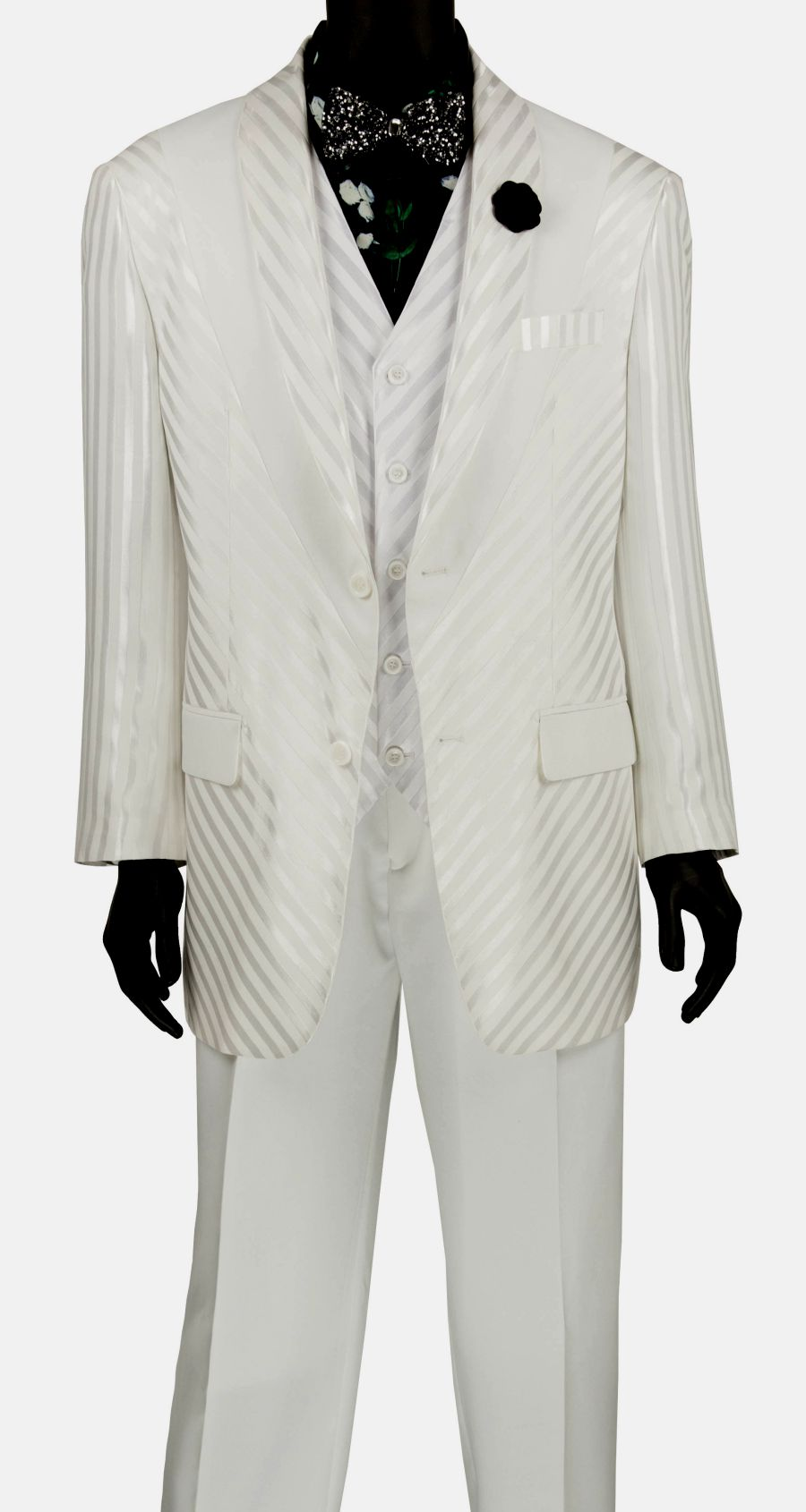 Vinci Men Suit 23RS-9-White - Church Suits For Less
